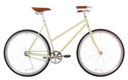 Vilano-Womens-Classic-Urban-Commuter-Single-Speed-Bike-Fixie-Style-City-Road-50cm-Bicycle-Cream-0