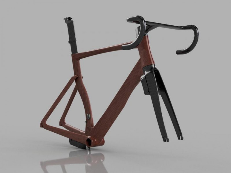HTech AerOne Concept Wood Frame with Carbon Fiber Fork